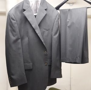 Mens suit by chaps and new hush puppies dress shoe